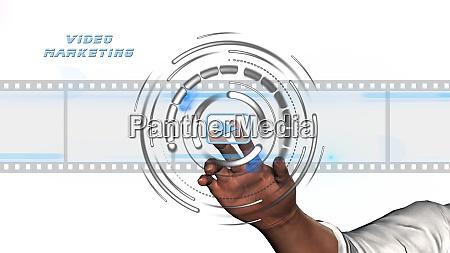 video marketing online business concept