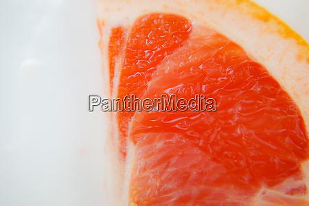 pink grapefruit flesh and skin