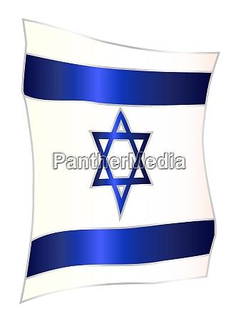 hanging israel flag