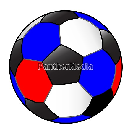 red white and blue football with