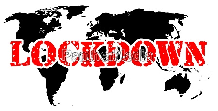 world in lockdown