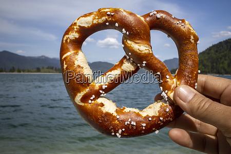 pretzel at walchensee