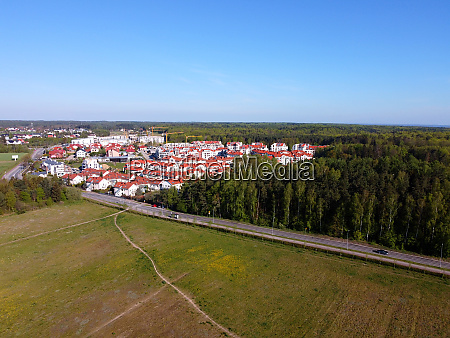 new buildings of estate surrounded by