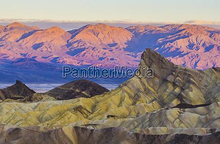 zabriskie point at sunset death valley