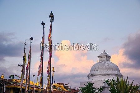 prayer flag poles and nepali flags