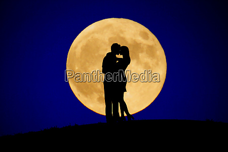 two people to kiss the moon