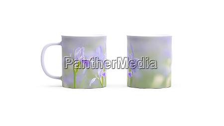 3d rendering of iris flower on