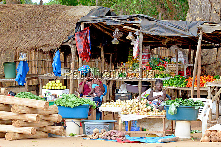mozambique market stalls