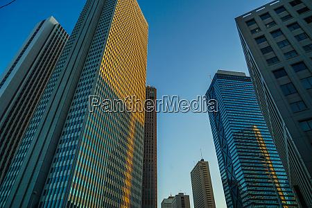 sky of shinjuku of buildings and
