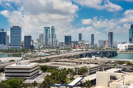 cityscape of miami florida united states