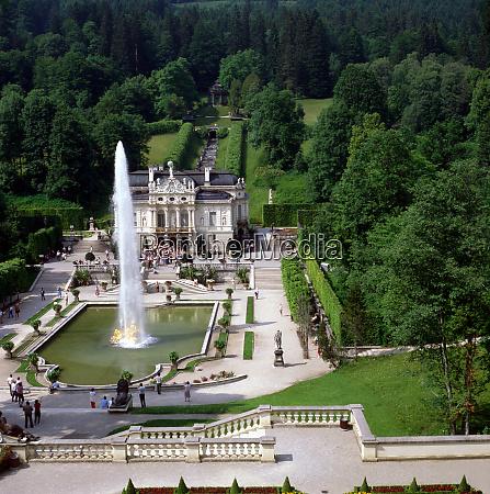 palace linderhof in bavaria germany