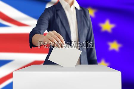 voting brexit concept