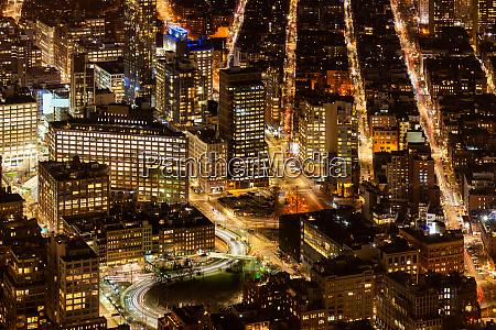 new york high angle view