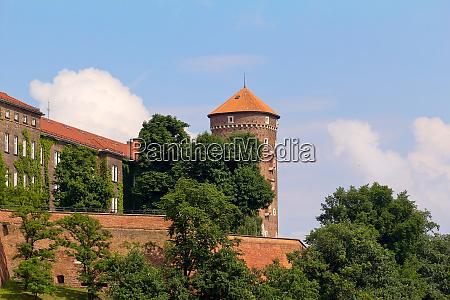 view on wawel royal castle