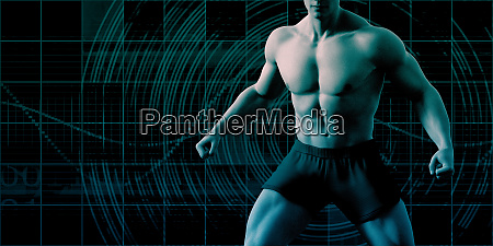 muscular physique of a man