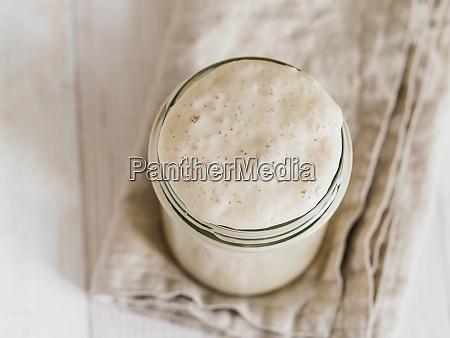 wheat sourdough starter top view copy
