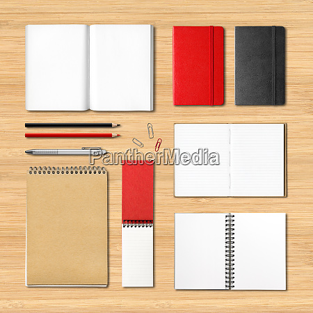 stationery books and notebooks on a