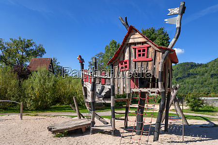 adventure playground with pirate play house