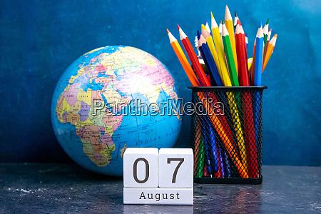 august 7 on the wooden calendarthe