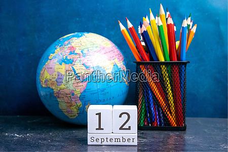 september 12 on the wooden calendarthe