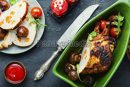 roasted rack of pork