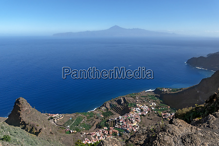 aerial view of agulo in the