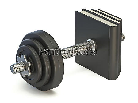 dumbbell made from stack of books