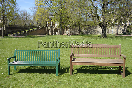 park benches in the fulda palace