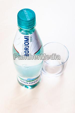 plastic bottle of borjomi water and