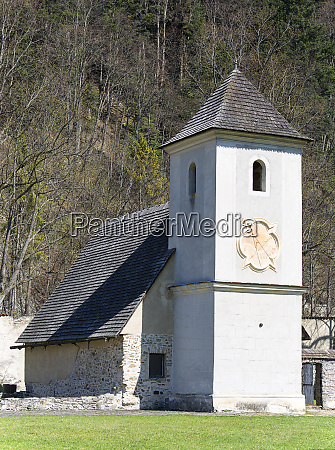 14th century red monastery bell tower