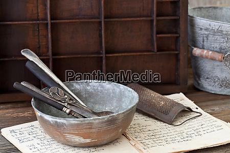 nostalgic kitchen utensil still life