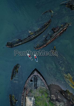 ship graveyard teriberka kola peninsula russia