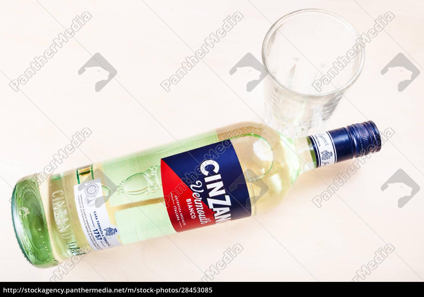 lying, bottle, of, cinzano, bianco, and - 28453085