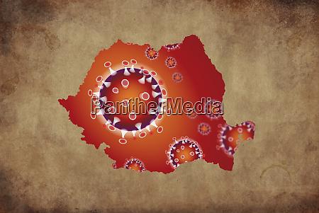 coronavirus map romania pandemic epidemic