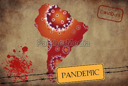 coronavirus map south america pandemic epidemic