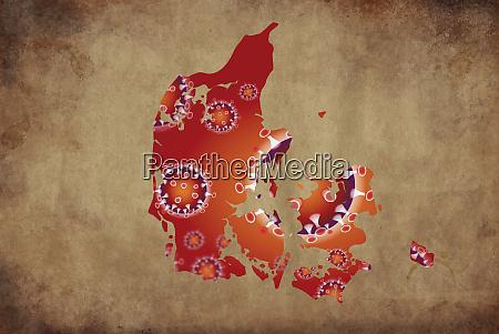 coronavirus map denmark pandemic epidemic