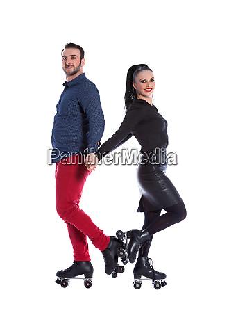 skate roller couple