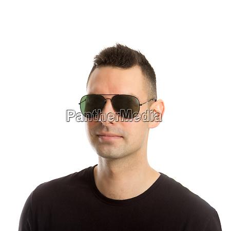 headshot of a young man wearing