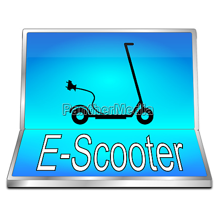 glossy blue e scooter button
