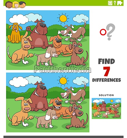 differences educational task with dogs group