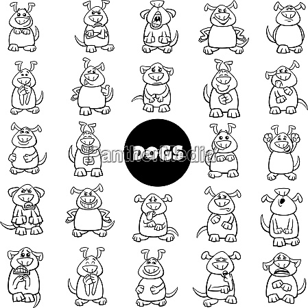 black and white cartoon dog characters