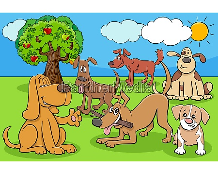 funny dogs and puppies cartoon characters