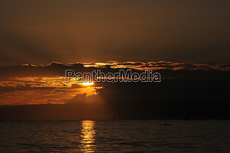 sunset on bohol in the philippines