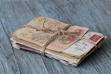nostalgic still life with old letters