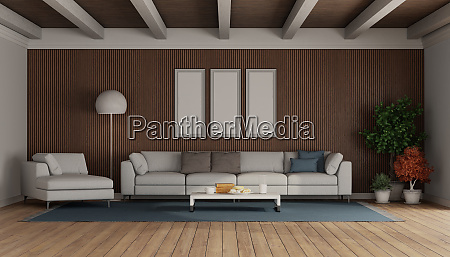 living room with modern sofa and