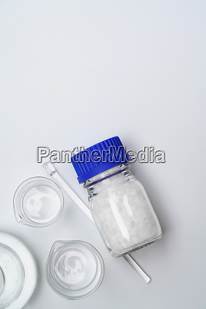 microcrystalline wax in glass container chemical