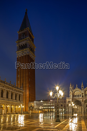 campanile on st marks square in