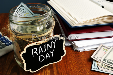 rainy day fund label on the