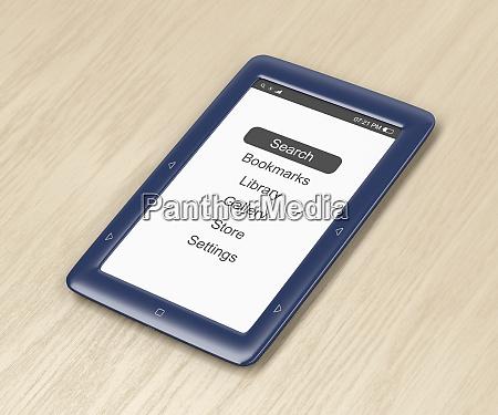 blue e book reader