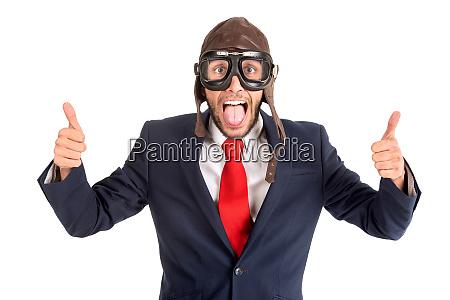 pilot businessman